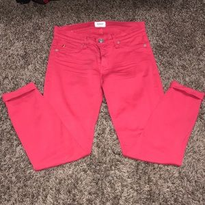 Hudson jeans in bright pink